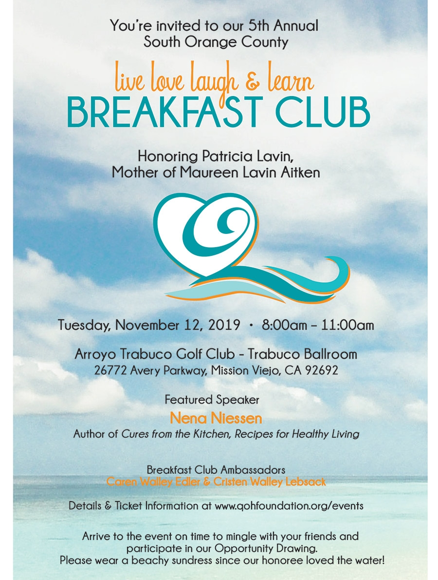 5th Annual Live Love Laugh & Learn Breakfast Club